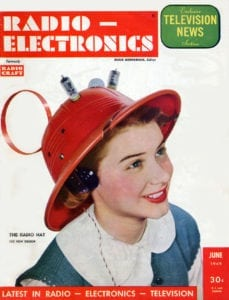 Man from Mars, Radio Hat. Modeled by Hope Lange