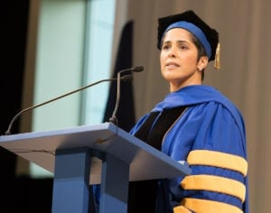 IC President Shirley Collado's Inauguration at Ithaca College on November 4, 2017. Photo by Sheryl D. Sinkow / Courtesy of Ithaca College