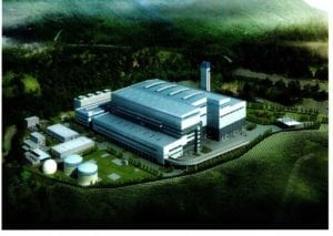 A rendering of what the power plant could look like. Courtesy of Circular EnerG