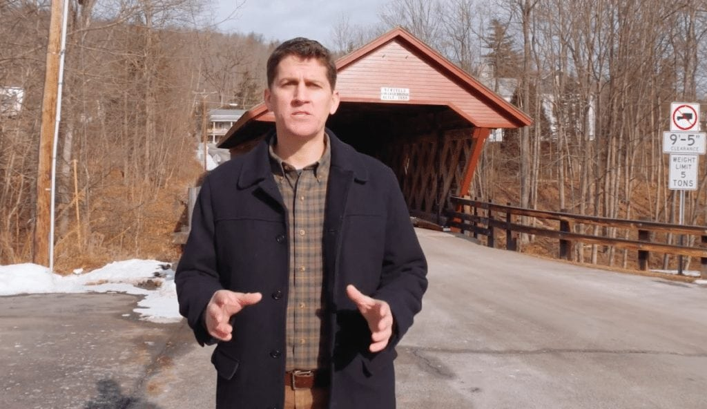 Featured image credit: A screengrab from a video advertisement put out by Your NY 23rd, apparently filmed in Newfield. Courtesy of Your NY 23rd/YouTube