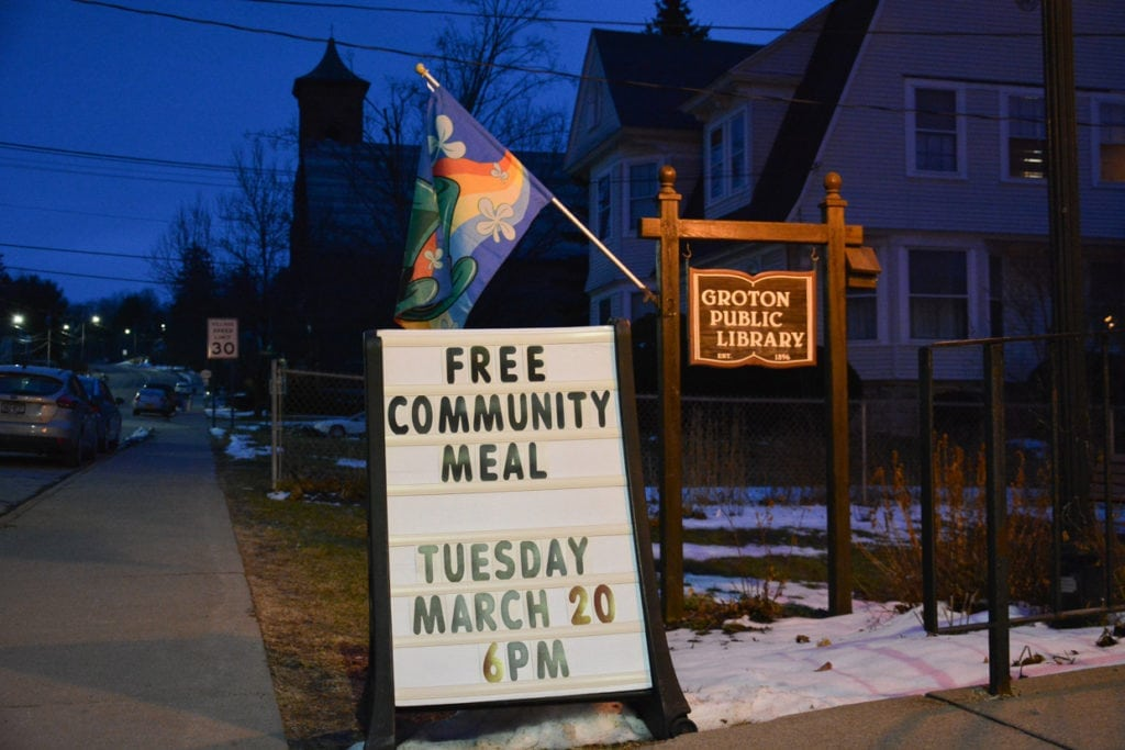 "Groton Public Library's ""Healthy Tuesdays"" offers free food to anyone who walks in."