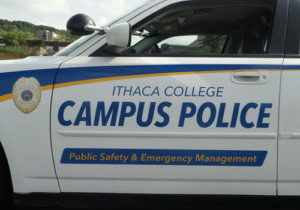 An image of an Ithaca College public safety vehicle. Photo credit: IC Public Safety